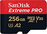 SanDisk Extreme Pro 256GB microSDXC Memory Card + SD Adapter with A2...