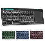 Rii K18 Plus Kabellose TV-Tastatur mit Touchpad, Beleuchtet Tastatur...