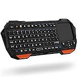 Fosmon Mini-Bluetooth-Tastatur (QWERTY-Tastatur), kabellos, tragbar,...
