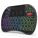 Rii Mini Tastatur mit Touchpad, Smart TV Tastatur, 2,4 GHz Kabellos...
