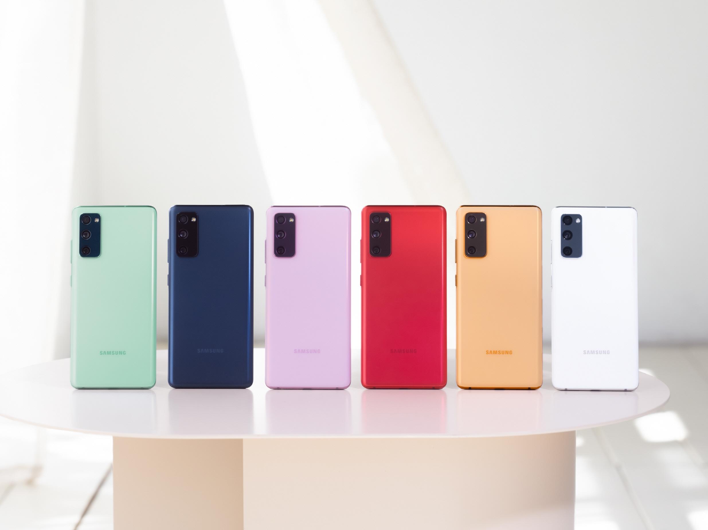 Samsung Galaxy S20 FE - sechs neue Trendfarben