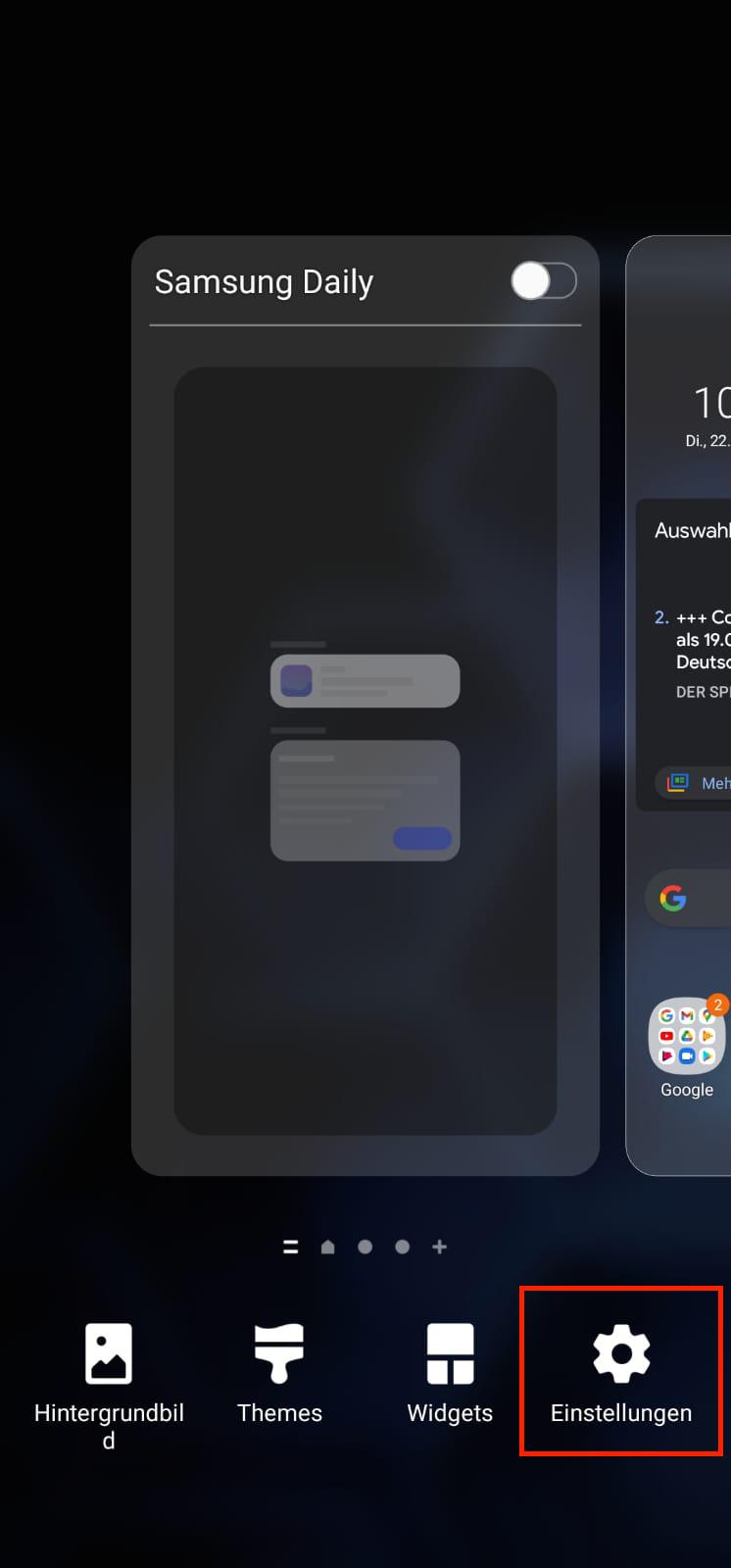 Icon-Größe auf dem Startbildschirm ändern