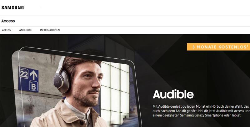 Audible gratis zu ausgewählten Samsung-Geräten