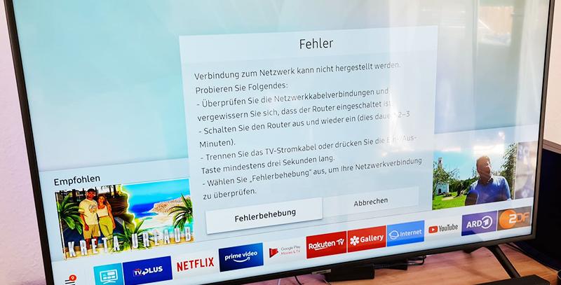 Samsung Smart-TV: Verbindung zum Netzwerk kann nicht hergestellt werden – was tun?