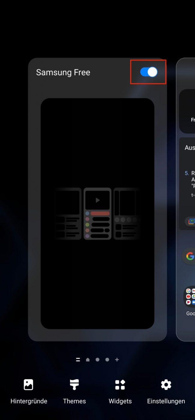 Samsung Free deaktivieren